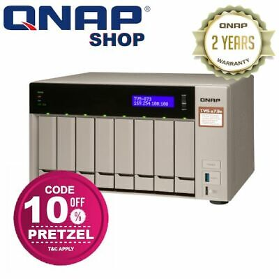 QNAP TS-873-8G 8 Bay Diskless NAS AMD RX-421ND Quad Core 2 1GHz CPU