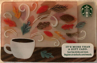 Starbucks Gift Card - Fall Leaves - Burst of Leaves - Autumn Leaves-Collectible!
