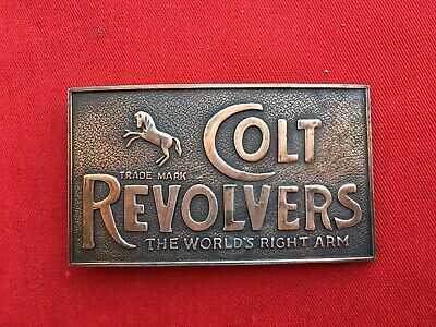 Colt Revolvers Brass Copper Belt Buckle