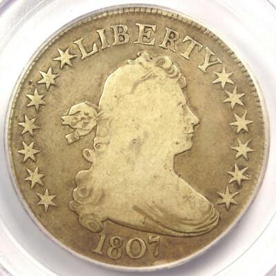 1807 Draped Bust Half Dollar 50C Coin - Certified PCGS VG10 - Rare Coin!