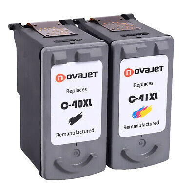 Black Color,2-Pack AB Volts Remanufactured Ink Cartridge Replacement for Canon PG-40 /& Cl-41 for Fax-JX200 Pixma MP140 MP150 MP160 MP170 MP180 MP190 MP210 MP450 MP460 MP470 MX300 MX310 iP1600