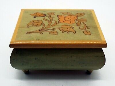 Vintage REUGE Ste Croix wood MUSIC BOX ITALY SWISS MUSICAL MOVEMENT WORKS
