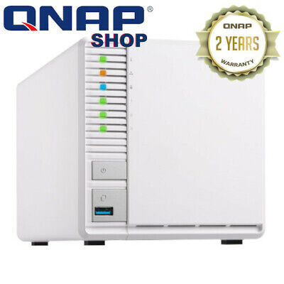 QNAP TS-328 3-Bay Diskless NAS Quad-core ARM CortexA53 (64-bit) CPU 2GB RAM