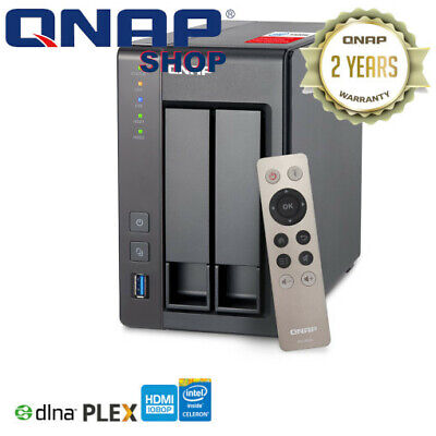 QNAP TS-251+-4G 2 Bay Diskless NAS Quad-core 2.0GHz CPU 4GB RAM