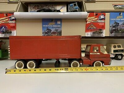 Vintage Structo Transport Trailer With Turbine Semi Truck