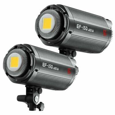 2X Jinbei EF-150V 5600K Studio LED Continuous Photo Video Light Bowens Mount