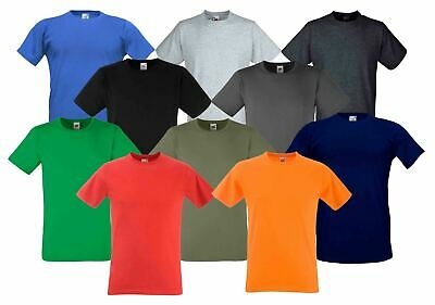 Fruit Of The Loom Plain Fitted Valueweight T-shirt - Men's tops - S M L XL 2XL
