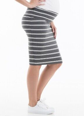 AU Trimester® - Glenn Striped Pencil Maternity Pregnancy Ladies Baby Skirt