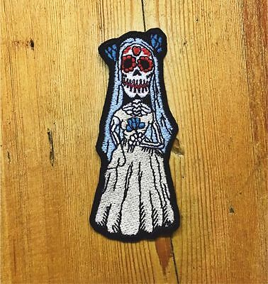 sugar skull day of the dead embroidered patch punk DIY
