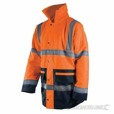 Silverline 541935 Reflective Jacket in Two Colours, Class 3, L, 100-108 cm
