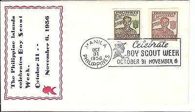 7 Sporting Jamboree Scout Philippines Cover 1957 Stamps
