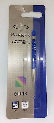 1 x Parker Quink Blue Gel Pen Refill Medium Point S0881280