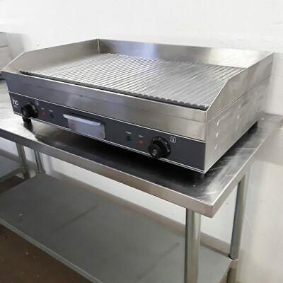 Commercial Griddle Ridged Ribbed Table Top Char HC HC-EG750HDR