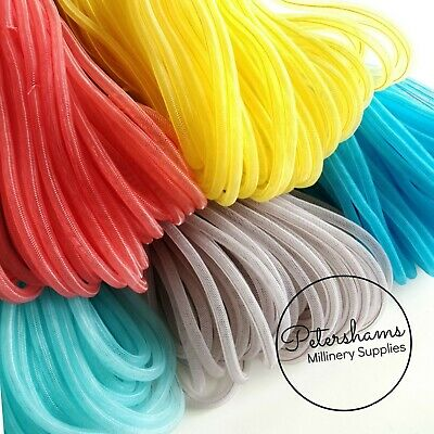 6mm Tube Millinery Crin (Crinoline, Horsehair Braid) for Millinery & Fascinators