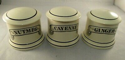 Vintage Retro Ditto Ceramic Spice Jars -  Great Display Items Made in England