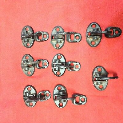 vintage 1800's shutter hardware cast  sill mounted catches lot of 8