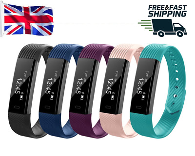 ID115HR Smart Watch Band TRACKER PEDOMETER Heart Rate Monitor Strap Bracelet UK