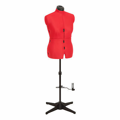 Sew Simple 8-Part Adjustable Dressmaking Dummy UK 16-22 Adjustoform 023817/Red