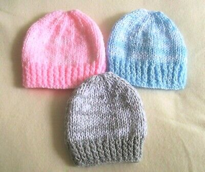 cute hand knitted  baby boys/ girl beanie 5 sizes FROM size early birth /reborm
