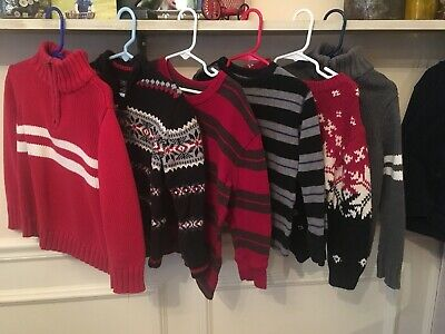 6 Piece Boys Sweater Lot Size 5T 5 EUC Gap Kids Old Navy Kite strings & More