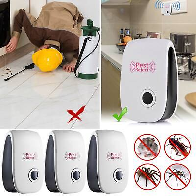 3X Ultrasonic Electronic Pest Mouse Cockroach Repeller Reject Insect Killer Y7