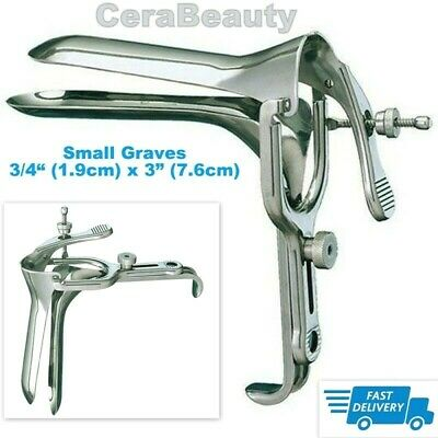 Graves Vaginal Speculum Small Dilation Examination DNC Stainless Steel CE