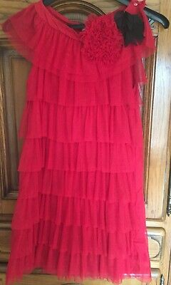 7695a85a65e ROBE tulle et froufrous ZARA rouge 11-12 ans