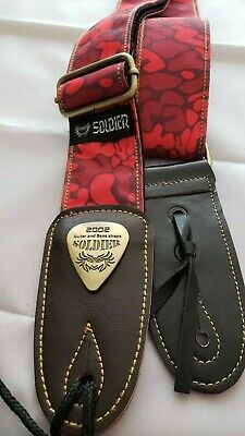 Soldier 2002 Nylon/Cotton Guitar Strap in RED CAMO!! FREE USA SHIPPING!
