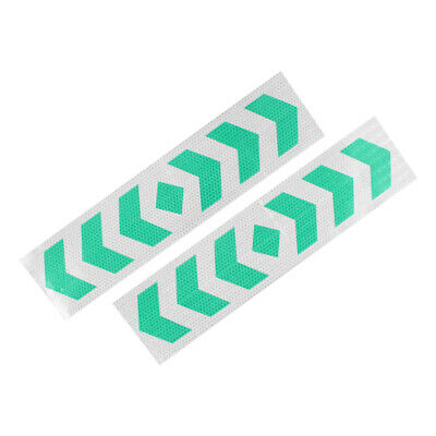 2pcs Plastic Reflective Self Adhesive Warning Tape Strip Reflector Sticker Decal