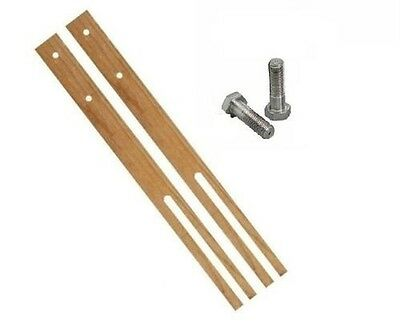 "30"" Pair Hardwood Headboard Legs Struts Slotted Pre-Drilled Good Quality + Screw"