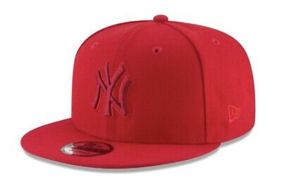 new style e682b 95d78 New Era New York Yankees 9Fifty Snapback Hat Mens Red