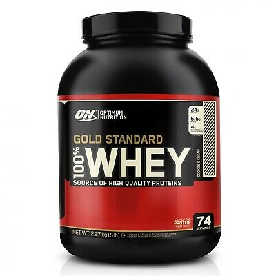 Optimum Nutrition Gold Standard 2.27Kg 100% Whey Muscle Building Whey Protein