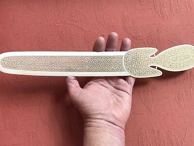 Antique Mughal Indian  Carved Letter Opener. 1875. Stunning Museum Quality !
