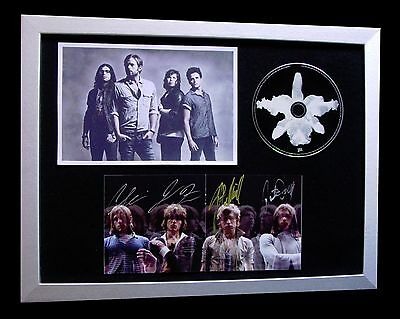 Kings Of Leon+Signed+Framed+Aha Shake+Walls=100% Authentic+Express Global Ship