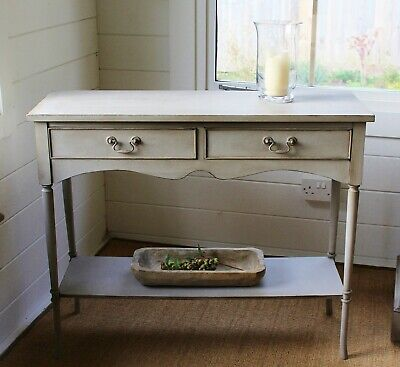 """Attractive """"Artisan Painted"""" Georgian Style Narrow Width Hall/Console Table/Grey"""