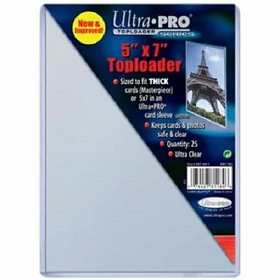 25 Ultra Pro 5 x 7 5x7 Toploaders Postcard Photo Holders Storage Protection new