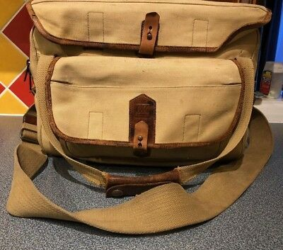 Fogg Sand coloured Large Canvas Camera Bag Leica