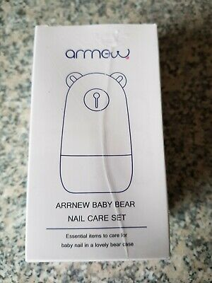 Baby Manicure Set by ARRNEW ~ 4 In 1 Baby Nail Care Kit With Bear Case ~ Babies
