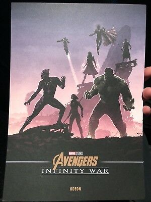 Marvel Avengers Infinity War Original Odeon A4 card Poster Print