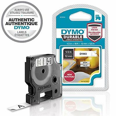DYMO D1 Durable Labeling Tape for LabelManager Label Makers, Black Print on Whit