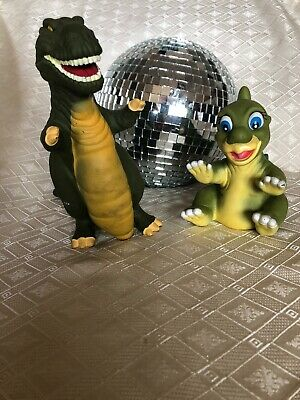 DUCKIE & SHARPTOOTH Land Before time Pizza Hut Vintage Hand Puppet