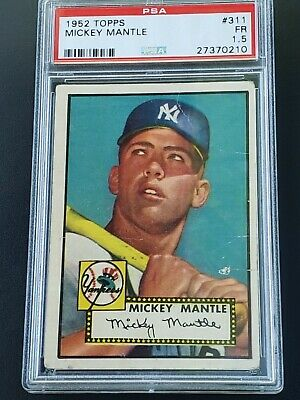 1952 Topps Mickey Mantle #311 PSA 1.5