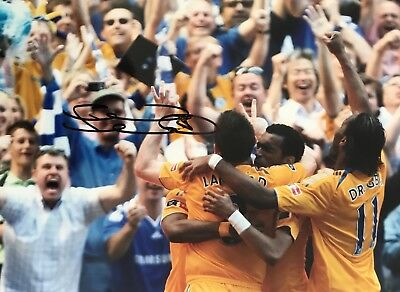 Frank Lampard HAND SIGNED 12x8 Chelsea FA CUP Final Photograph *In Person* COA