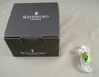 Waterford Crystal Sea Horse Brooch New in Box