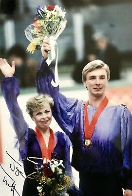 Jane Torvill HAND SIGNED 12x8 Bolero Olympic Gold Photograph *IN PERSON* COA