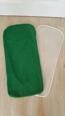 Bugaboo Gecko carrycot mattress cover and topper only green
