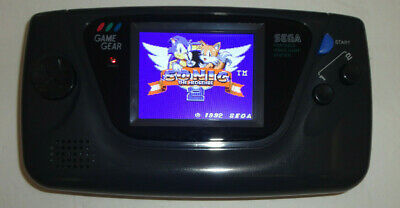 Sega Game Gear Launch Edition Black Handheld System MCWILL lcd mod,
