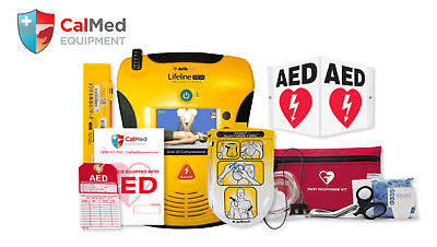 Defibtech Lifeline View AED Portable Bundle - Refurbished- new pads and battery
