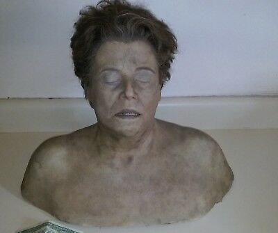 Screen used PROP SCREEN USED SILICONE BUST. Hand punched hair. Looks real.