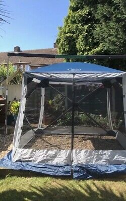 grey gazebo 1 pair Quest instant spring up screen house 4 side walls blinds